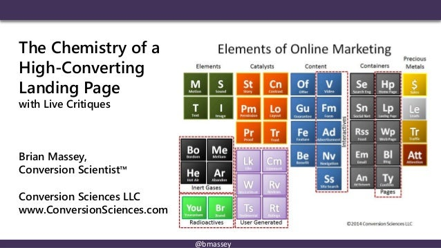@bmassey The Chemistry of a High-Converting Landing Page with Live Critiques Brian Massey, Conversion Scientist™ Conversio...