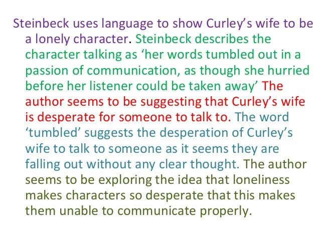 Description of curleys wife