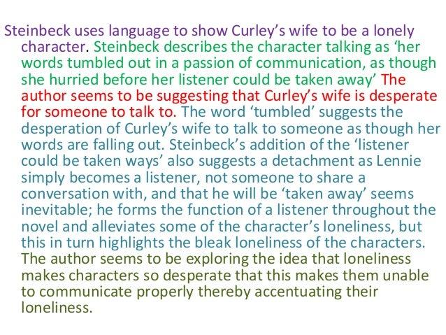 curleys wife essay loneliness