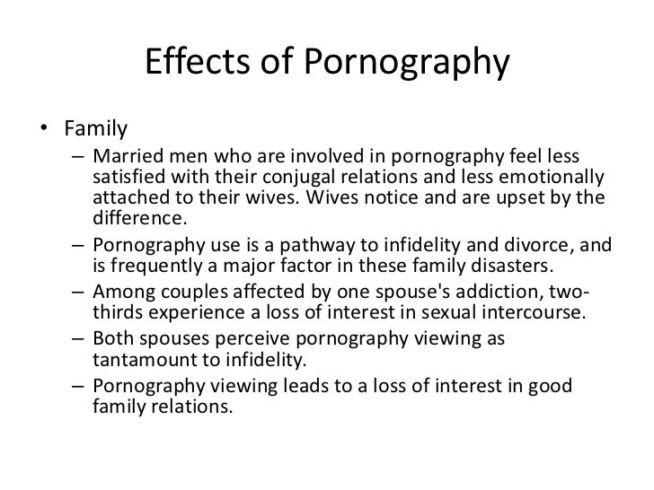 essay on affects of pornography A meta-analysis of the published research on the effects of pornography the issue of exposure to pornography has received a great deal of attention over the years an.
