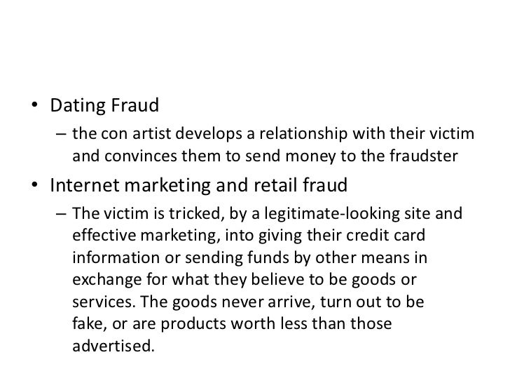 Internet dating con artists definition