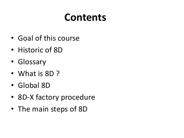 How to solve problems (or at least try) with 8D Slide 2