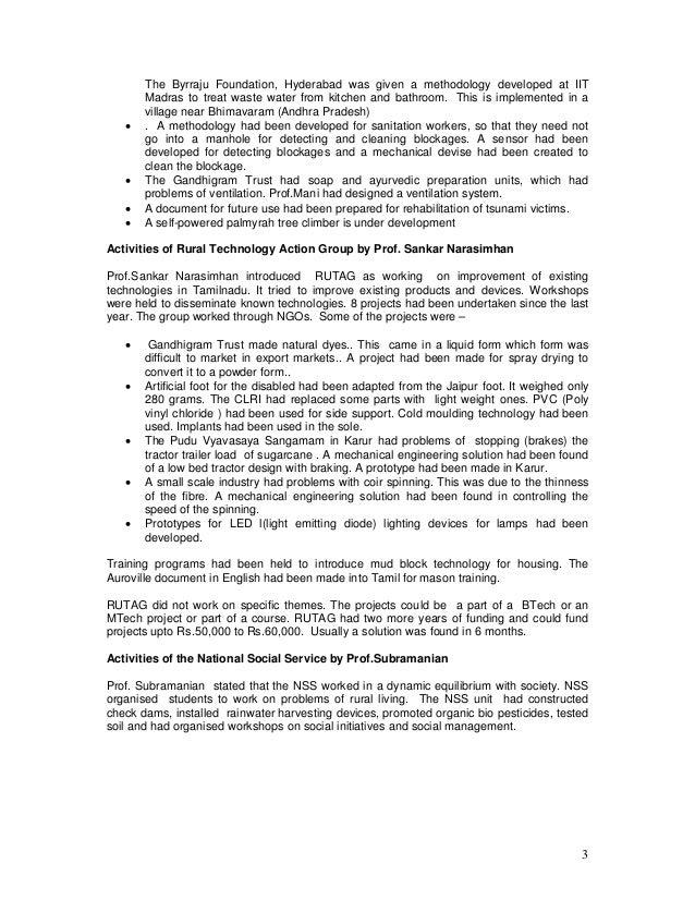 livelihood indicators for byrraju foundation 1 altruism versus profit: clean water in india brenda eichelberger, portland state university introduction n sree hari, associate partner of the byrraju foundation and coordinator of the sweet.