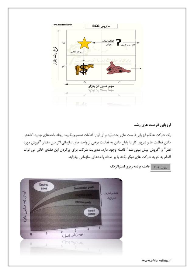 www.eMarketing.ir رشد های فرصت ارزیابی ،جدید واحدهای ایجاد :بگیرد تصمیم اقدامات این برای باید ر...