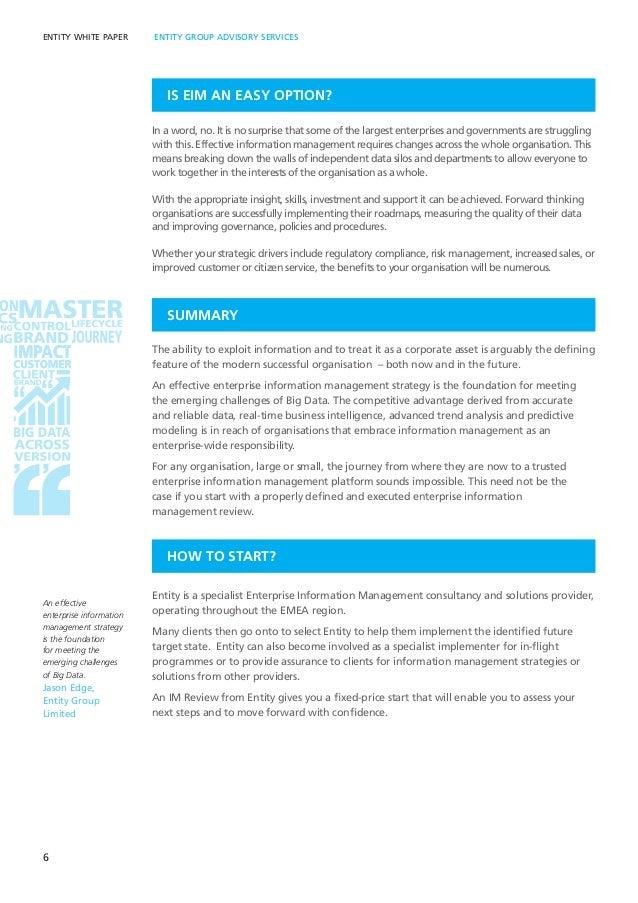Enterprise Information Management Strategy - a proven approach