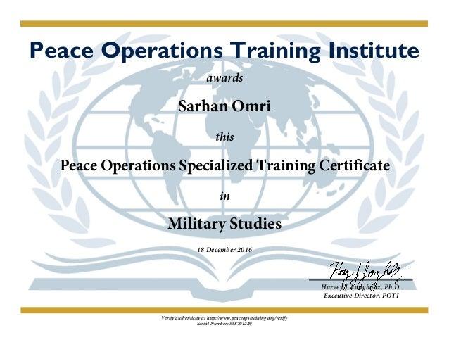 Military Studies post Certificate