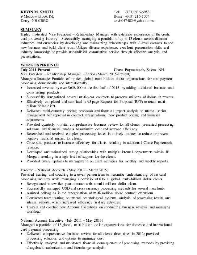 Kevin smith resume reheart Gallery