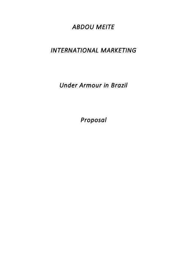 international marketing brazil and Under Armour b1cffa8a7ec