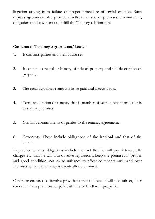 The Concept Of Landlord And Tenant