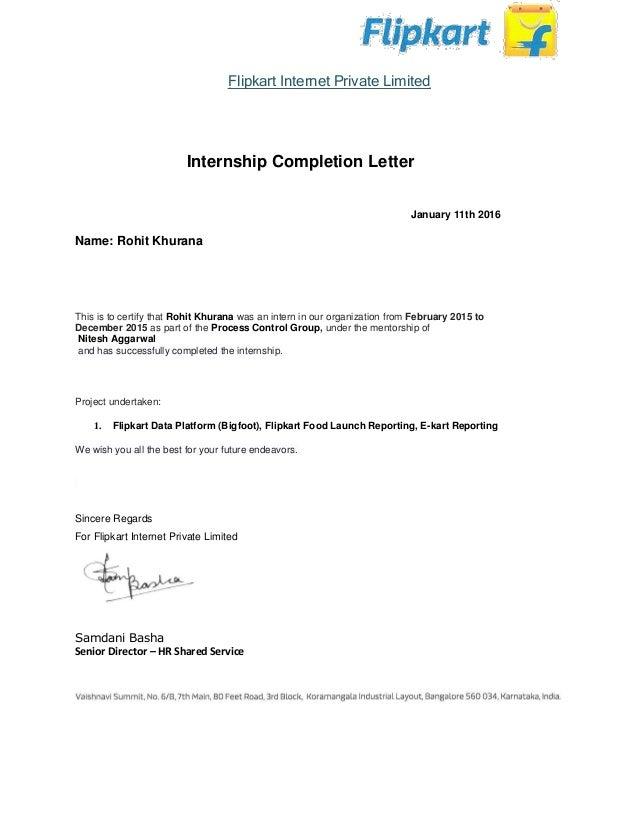 Acceptance Letter Sample For Internship