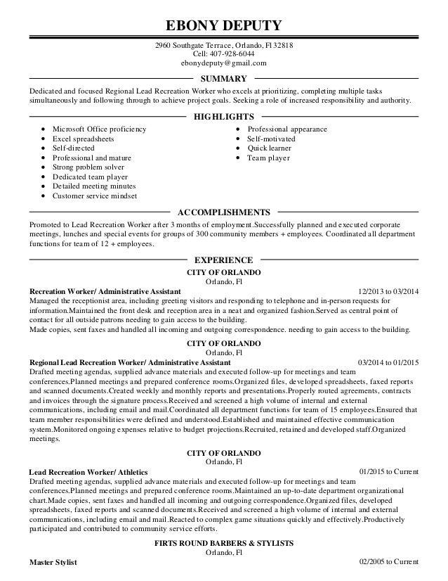 Ebony Deputy Resume 1