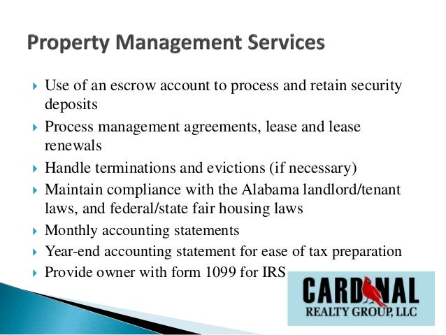Rental Property Managment Services By Cardinal Realty Group Llc