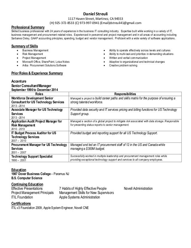 project management skills for resumes