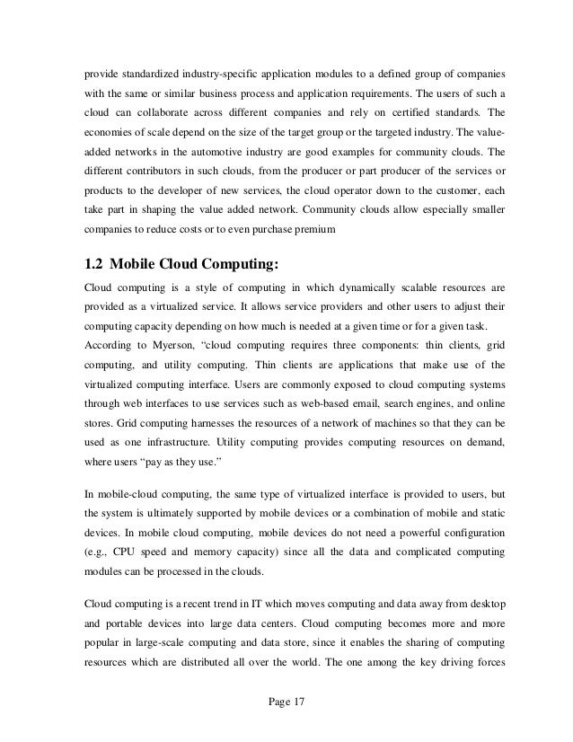 term paper on cloud computing International journal of scientific and research publications, volume 2, issue   in this paper, cloud computing is introduced as a new and speedily growing and .