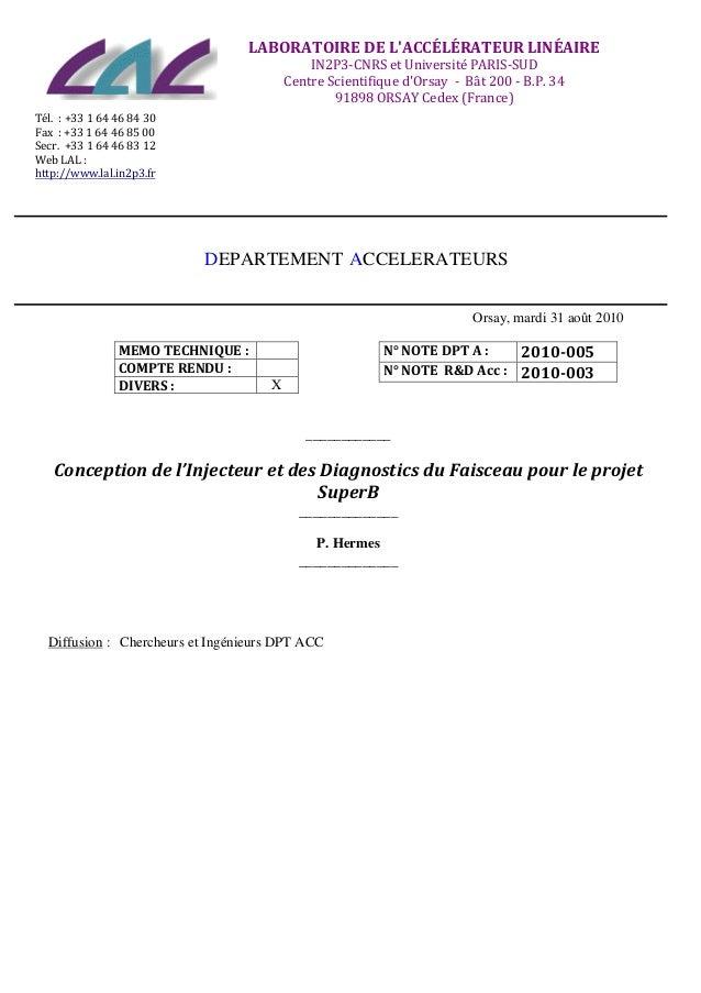 LABORATOIRE  DE  L'ACCÉLÉRATEUR  LINÉAIRE   IN2P3-‐CNRS...
