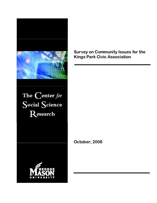 Survey on Community Issues for the Kings Park Civic Association October, 2008
