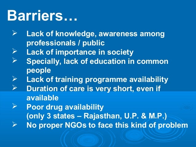 Barriers of palliative care