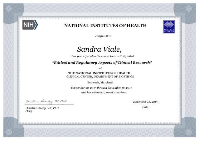 certificate nih bioethics activity health slideshare upcoming institutes national educational