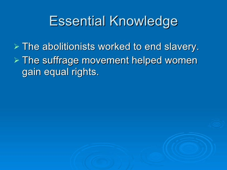 Women's Rights, Abolitionism, and Reform in Antebellum and Gilded Age America