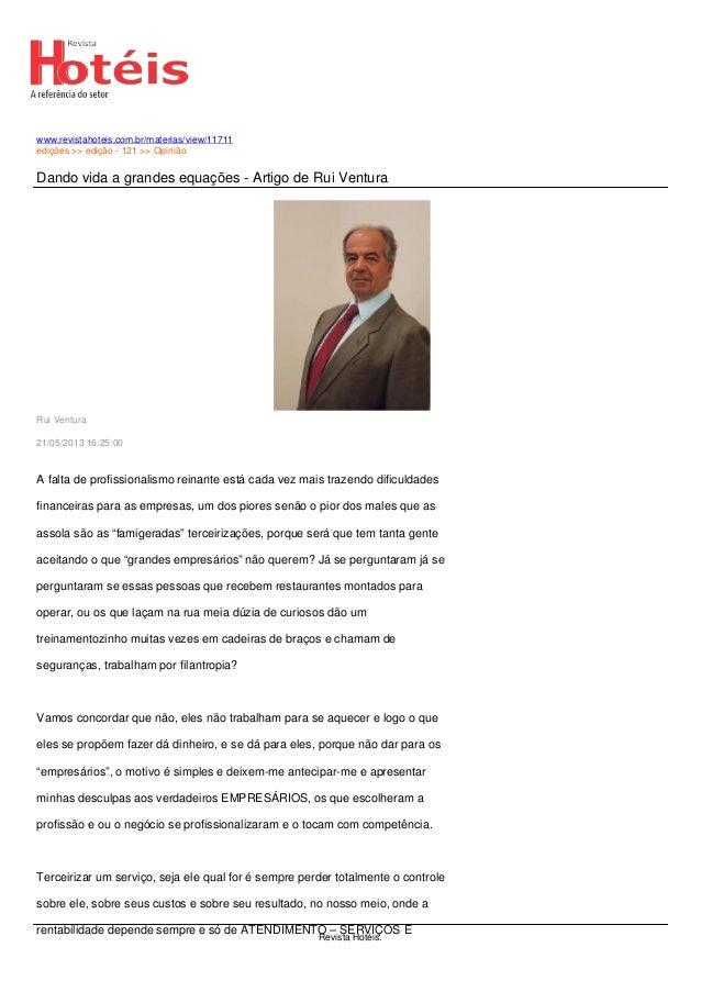 www.revistahoteis.com.br/materias/view/11711edições >> edição - 121 >> OpiniãoDando vida a grandes equações - Artigo de Ru...