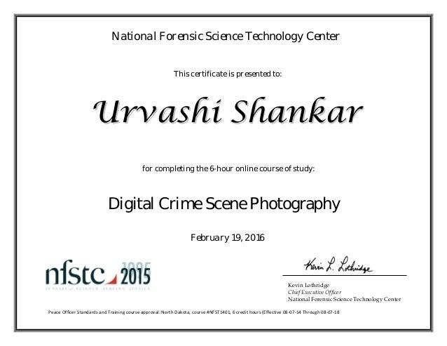 Digital Crime Scene Photography Certificate