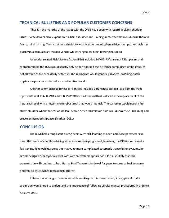 DPS6 Research Paper - Leonard Howe