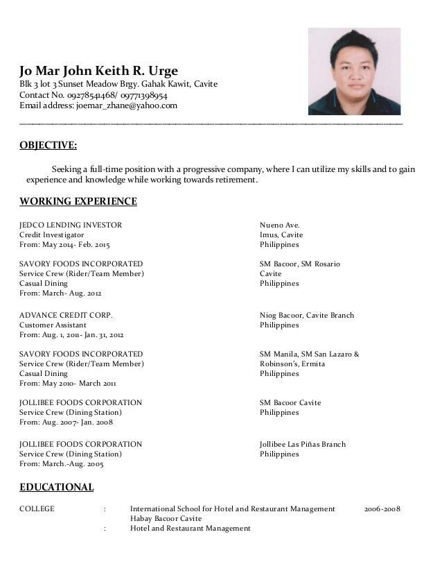 keith resume