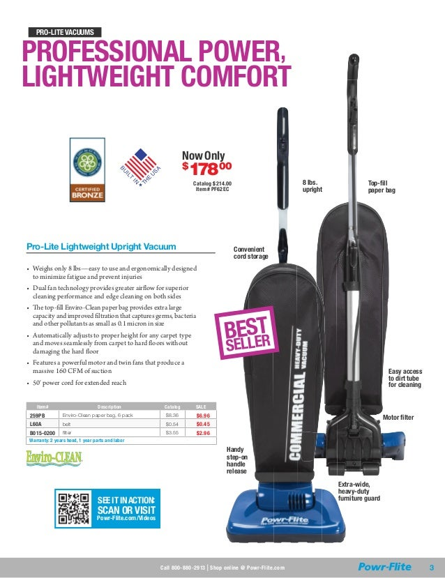 Tacony Corporation Powr-Flite X1486/Pro-Lite Backpack Vacuum Paper Bag Commercial Floorcare Pack of 10