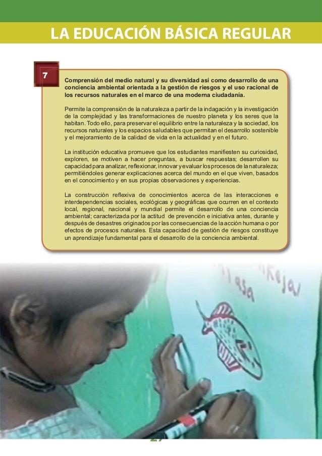 PARTE I 4.1 Características de los estudiantes al concluir la EBR Logros Educativos por Nivel Plan de Estudios de la EBR V...
