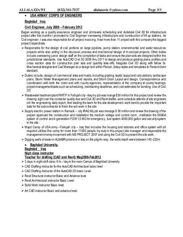 resume of eng ali