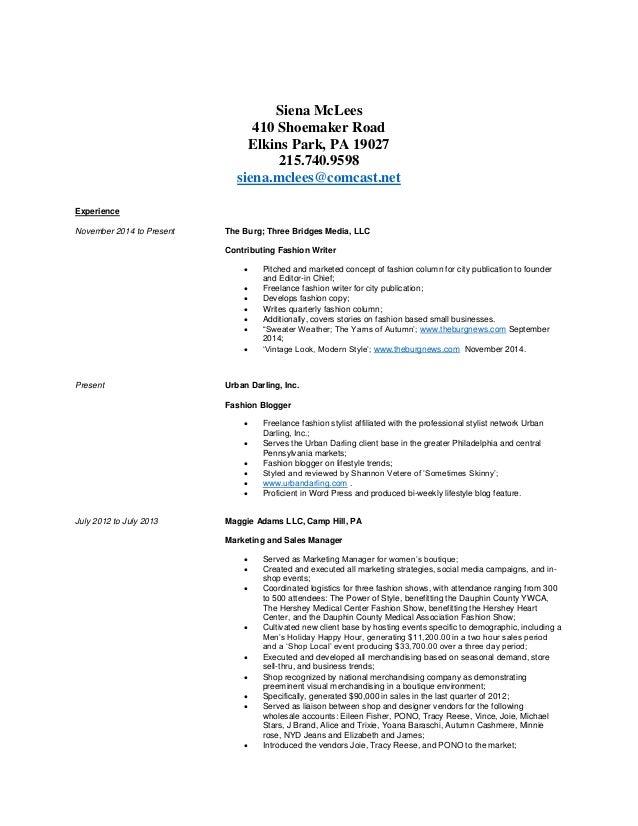 Siena K Mclees Resume