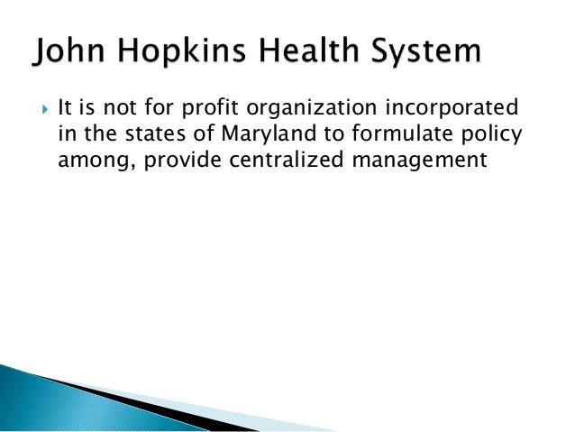 Swot analysis on john hopkins hospital