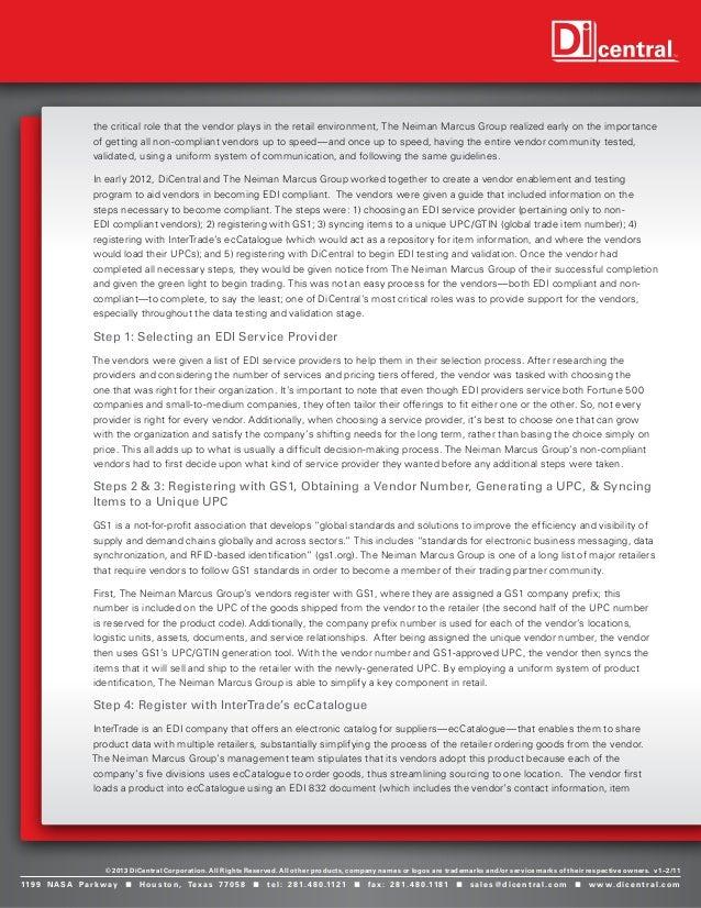 Case study selling neiman marcus