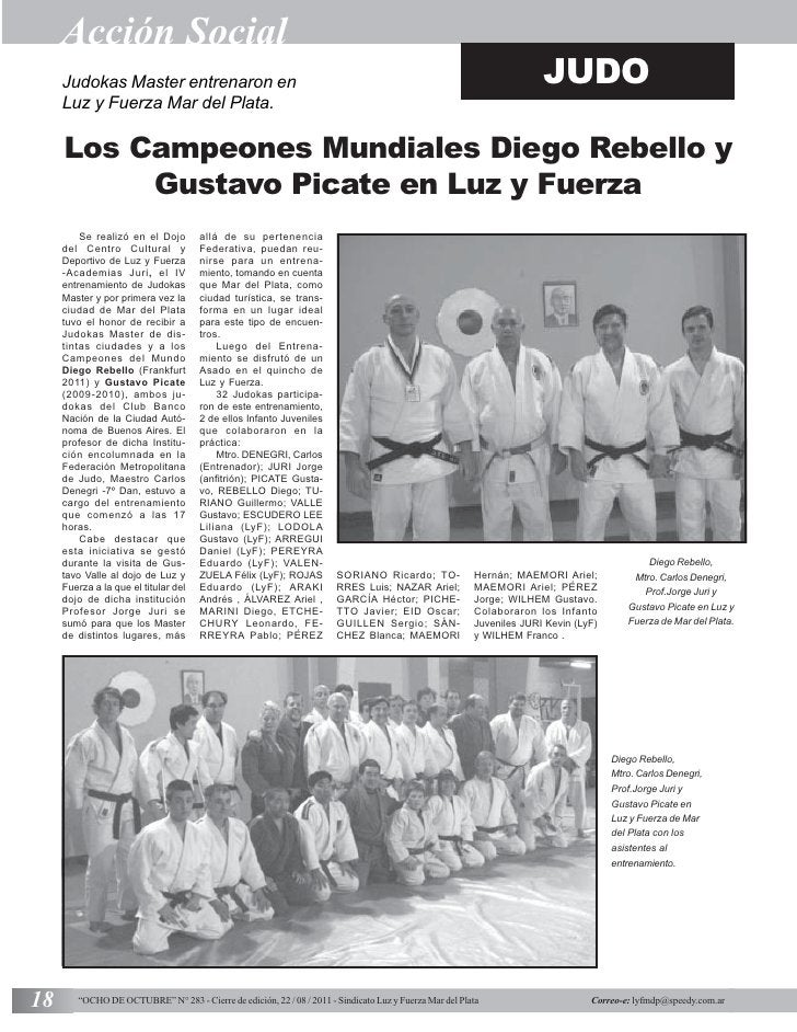 Acción Social     Judokas Master entrenaron en                                                                            ...