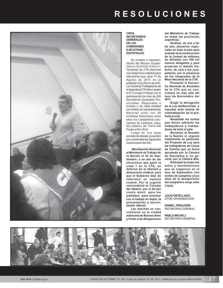 RESOLUCIONES                                                           CROS.                             del Ministerio de...
