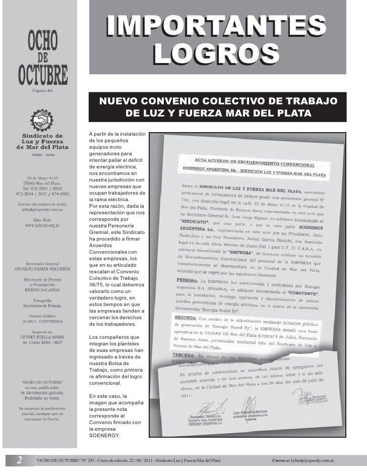 IMPORTANTES                                           LOGROS                                     NUEVO CONVENIO COLECTIVO ...