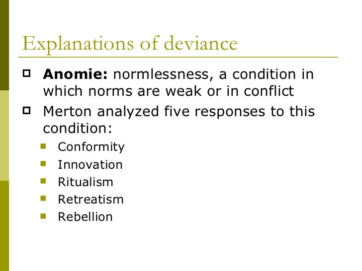 """anomie the norm of normlessness in Anomie is a social condition in which people feel disconnected from society   the concept, thought of as """"normlessness,"""" was developed by."""