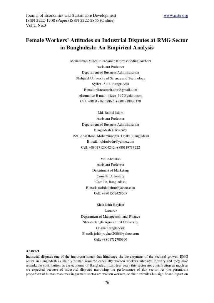 Journal of Economics and Sustainable Development                                              www.iiste.orgISSN 2222-1700 ...