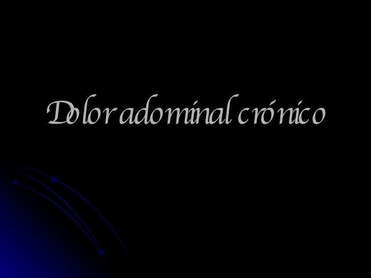 Dolor adominal crónico