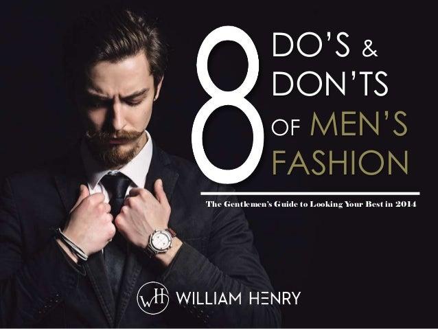 Mens Fashion Donts