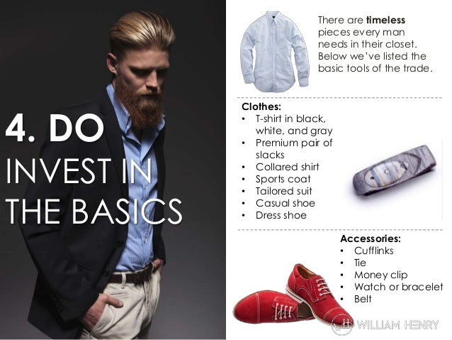 8 Do's and Don'ts of Men's Fashion
