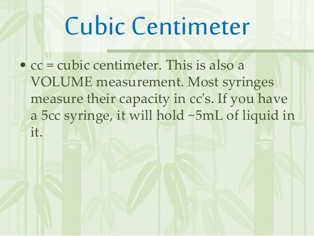 convert ml to cc liquid