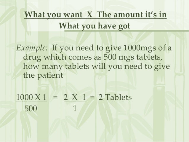 Drug Calculation for Patient