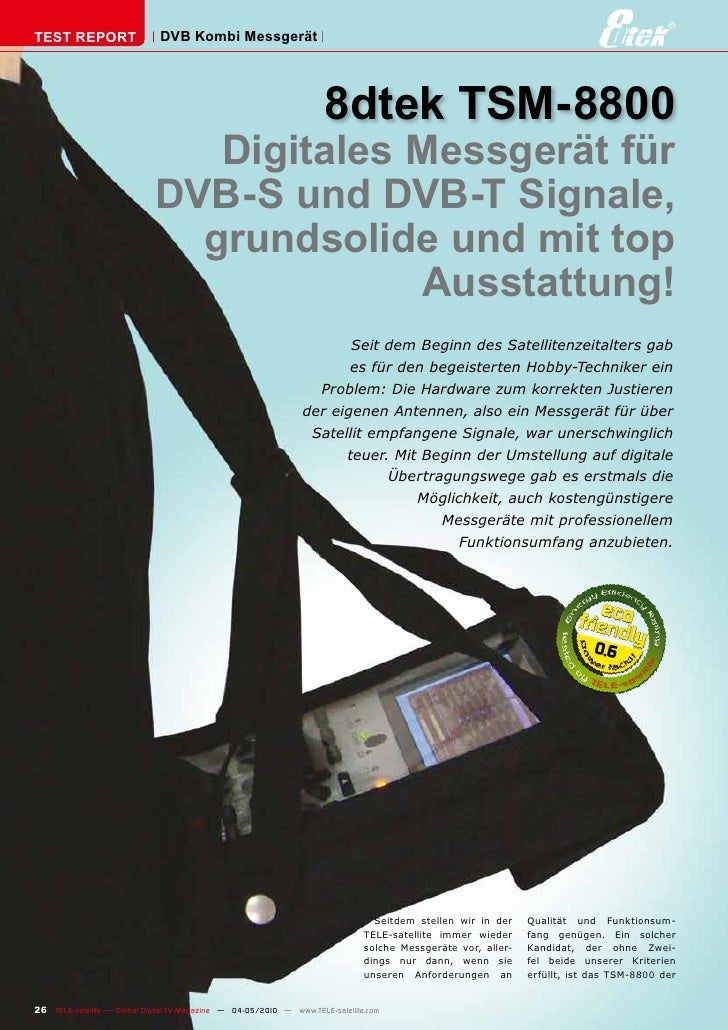 TEST REPORT                   DVB Kombi Messgerät                                                                         ...