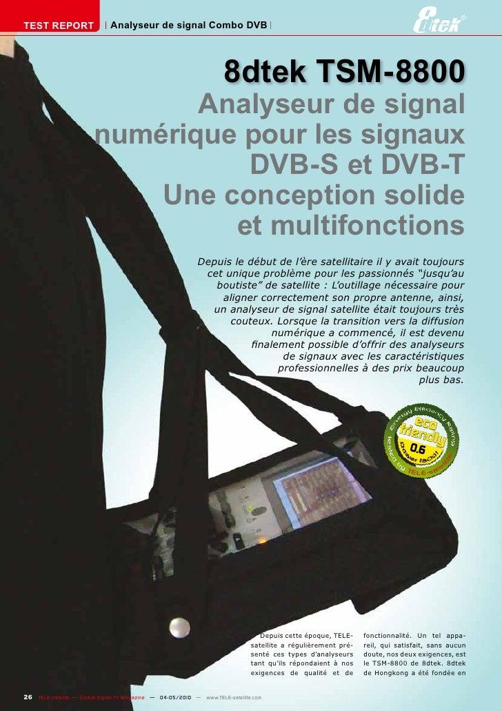 TEST REPORT                   Analyseur de signal Combo DVB                                                               ...