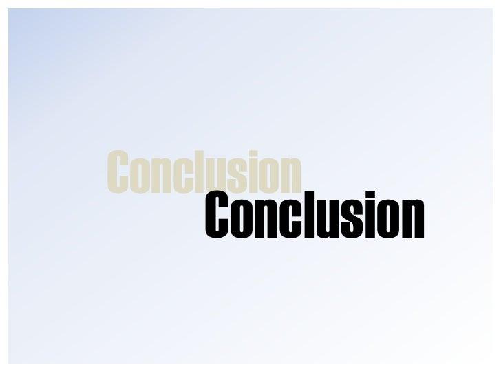 Quelque (petits) conseils avant la<br />Conclusion<br />Exemple de <br />visualisation<br />