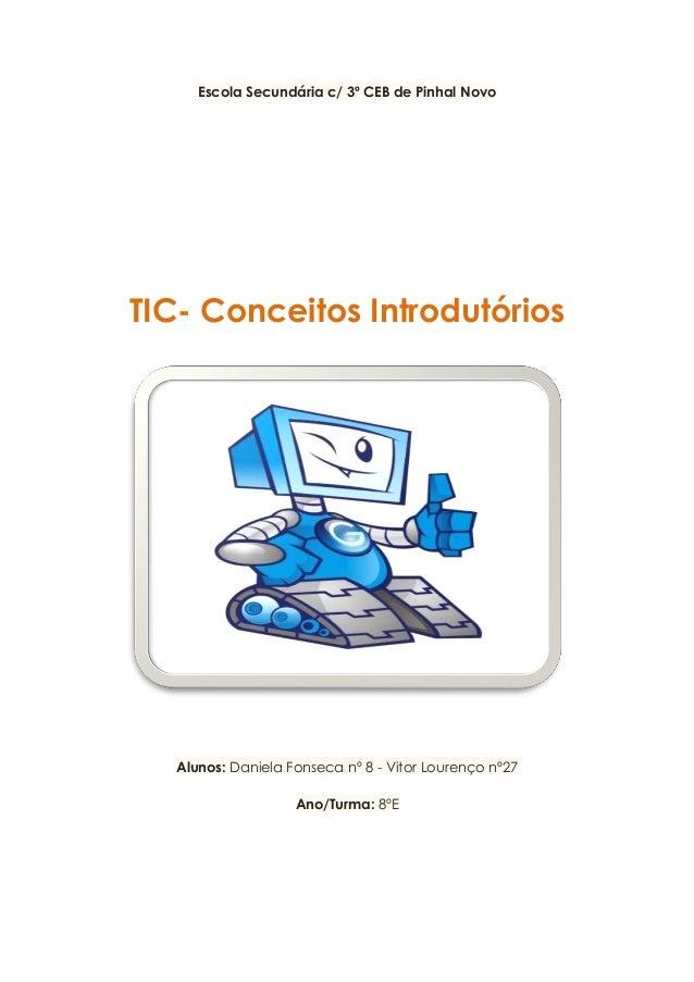 Escola Secundária c/ 3º CEB de Pinhal Novo TIC- Conceitos Introdutórios Alunos: Daniela Fonseca nº 8 - Vitor Lourenço nº27...