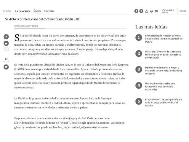 La Nación - UADE - Primer Clase Virtual en Latam - Desarrollo Argentonia - Leonardo Penotti