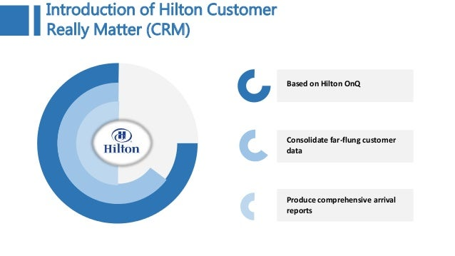 hilton customer service case study Case 14 hilton hhonors worldwide: loyalty wars  marketing tool, serving to direct promotional and customer service efforts at the heavy user.