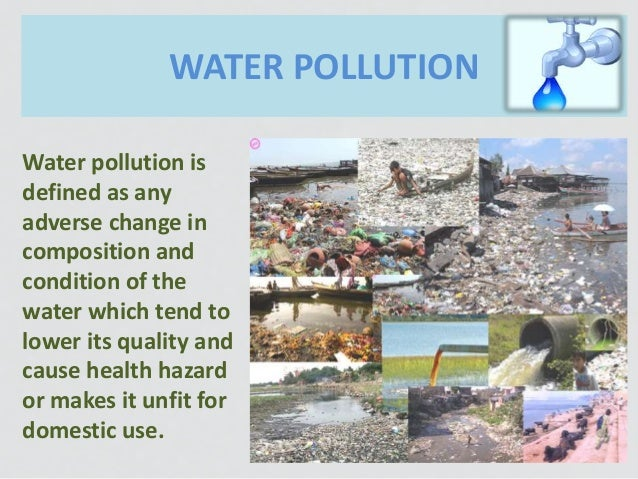 sources and causes of water pollution Water pollution is an appalling problem, powerful enough to lead the world on a path of destruction water is an easy solvent, enabling most pollutants to dissolve in it easily and contaminate it the most basic effect of water pollution is directly suffered by the organisms and vegetation that survive in water, including amphibians.